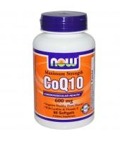 NOW COQ10 600 MG 60 SOFTGELS