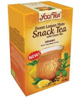 YOGI SNACK TEA GREEN-LEMON MATE  17φακ.