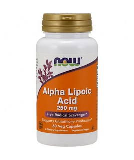 ALPHA LIPOIC ACID 250mg 60vcaps Now Foods