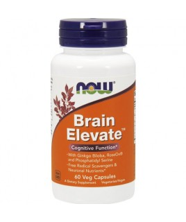 BRAIN ELEVATE FORMULA 60vcaps Now Foods