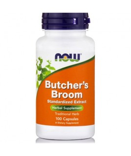 BUTCHER'S BROOM 500mg 100caps Now Foods