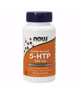 Now Foods 5-HTP Double Strength 200mg 60 φυτικές κάψουλες