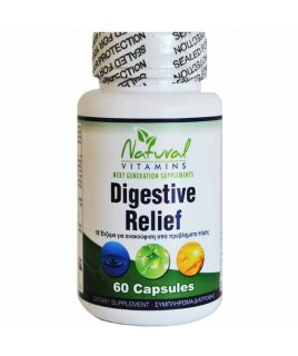Natural Vitamins Digestive Relief 60κάψουλες