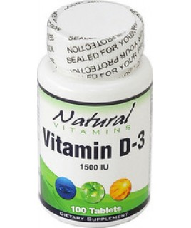 Natural Vitamins D-3 1500IU 100 tabs
