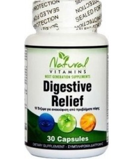Natural Vitamins Digestive Relief 30κάψουλες