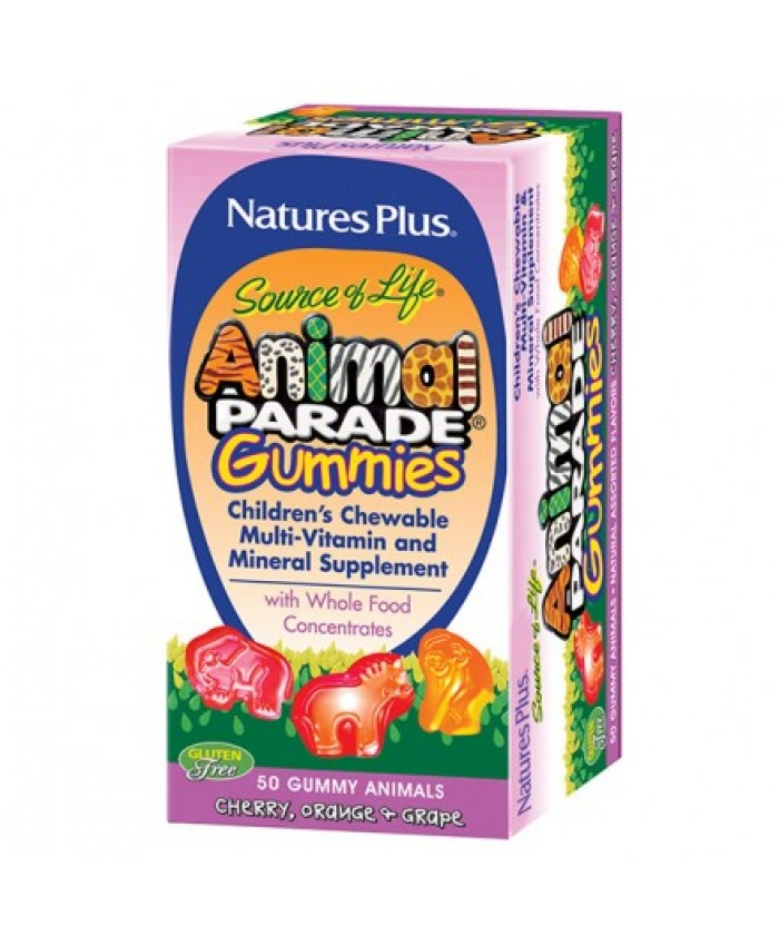 Nature's Plus Animal Parade Gummies Assorted Flavors 50 μασώμενες ταμπλέτες