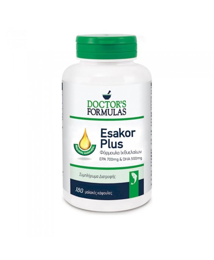 Doctor's Formulas Esakor Plus EPA 700mg - DHA 500mg 180 μαλακές κάψουλες