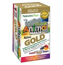 Nature's Plus Animal Parade Gold Cherry, Orange & Grape 60 Μασώμενες Ταμπλέτες
