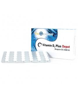 Viogenesis Vitamin D3 Plus Depot 2500iu 90 κάψουλες Viogenesis