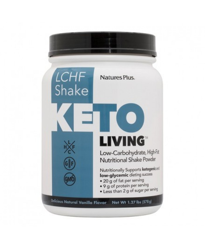 Nature's Plus Keto Living Shake 578gr Vanilla