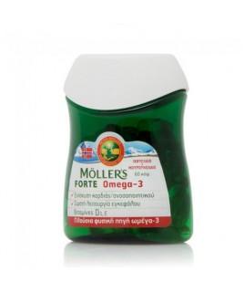 Moller's Μουρουνέλαιο Forte Omega-3, 60 Κάψουλες Συμπληρωματα
