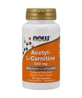 ACETYL L-CARNITINE 500mg 50vcaps Now Foods