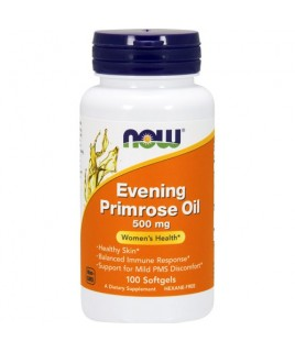 EVENING PRIMROSE OIL 500mg 100sgels Now Foods