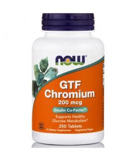 GTF CHROMIUM 200mcg 250tabs Now Foods