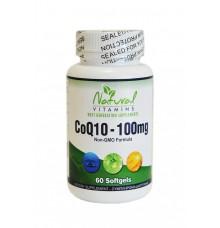 Natural Vitamins CoQ10 100mg 60 sgels