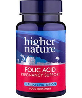 Higher Nature Folic acid 400mg 90vcaps