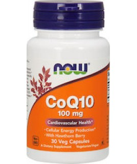 CoQ10 100mg 30vcaps Now Foods