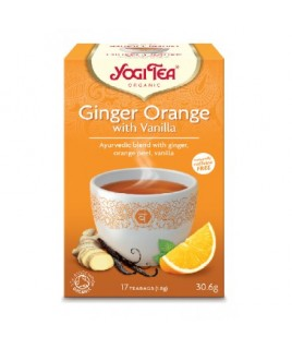 YOGI TEA GINGER ORANGE VANILLA  17 φακ. Yogi Tea