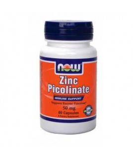 ZINC PICOLINATE 50mg 60caps Now Foods