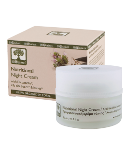 Bioselect Nutritional Night Cream with Dictamelia, Alfa-Alfa Beans & Honey 50ml