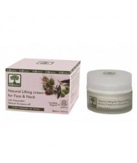Bioselect Natural Lifting Cream for Face & Neck with Dictamelia, Hibiscus & Sesame Oil 50ml